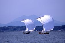 画像:筑波山と霞ケ浦