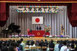 画像:土浦小学校入学式