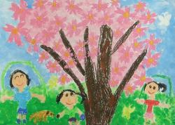 『平成26年度「市の木・市の花・市の鳥」絵画作品小学校低学年の部最優秀賞』の画像