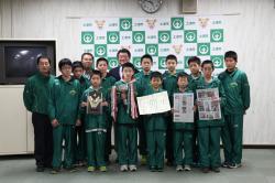 『真鍋ミニバスケットボールスポーツ少年団表敬訪問』の画像