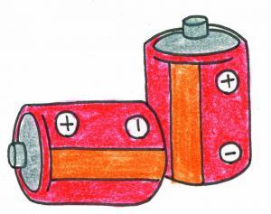 『資源イラスト_乾電池』の画像