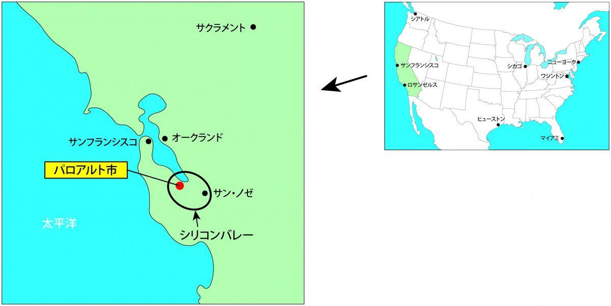 パロアルト市地図
