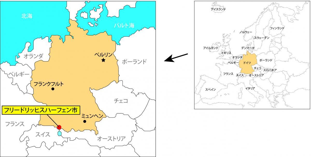 フリードリッヒスハーフェン市地図