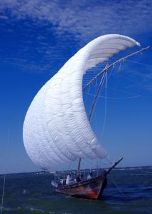 『観光帆曳船』の画像