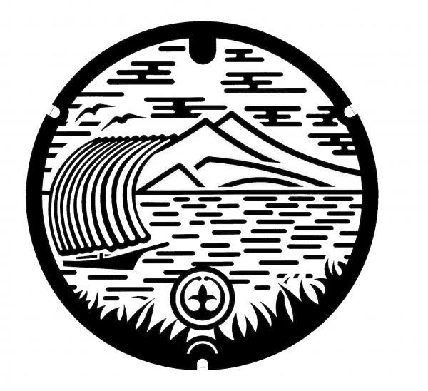 『『『『『『『土浦市デザインマンホール(白黒)イメージ』の画像』の画像』の画像』の画像』の画像』の画像』の画像