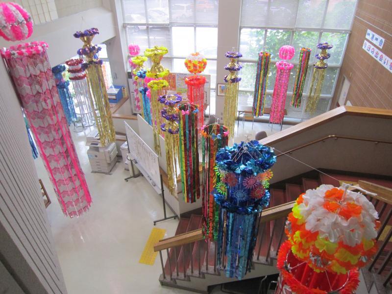 『2階から七夕飾りを見下ろしたアングルです』の画像