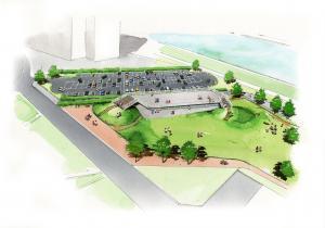 『土浦港周辺広域交流拠点パース』の画像