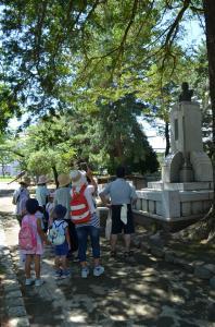『亀城公園探検 原脩次郎銅像』の画像