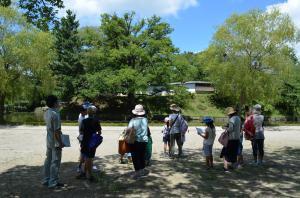 『亀城公園探検 塀(外)』の画像