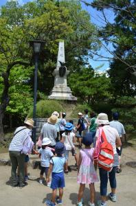 『亀城公園探検 忠魂碑』の画像
