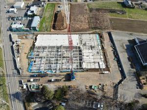 『新学校給食センター工事の様子3月』の画像
