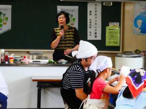 親子料理教室 男女共同参画のお話