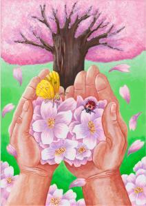 『市の木・市の花・市の鳥絵画作品コンクール最優秀作品』の画像