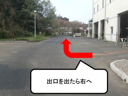 『出口を出たら右へ』の画像