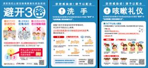3つの密・手洗い・咳エチケット(中国語)