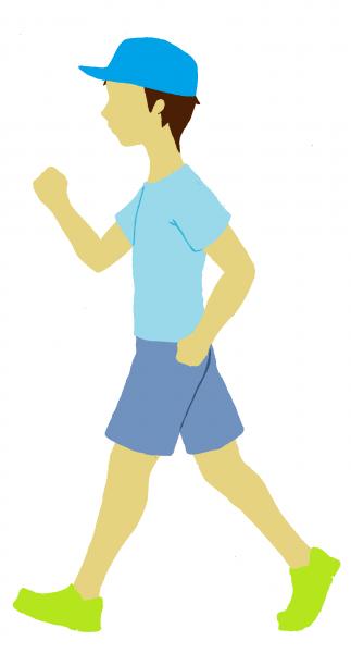 『歩いている人』の画像