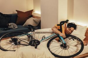 愛車と添い寝