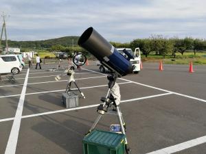 星の観望会 望遠鏡