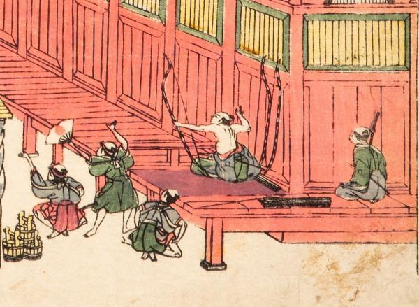 浮絵御江戸富賀川三拾三軒堂之図