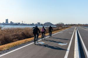 サイクリング湖畔