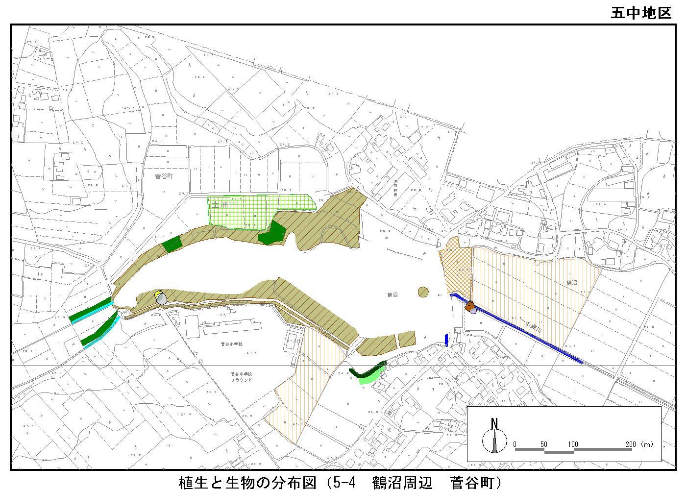鶴沼周辺(菅谷町)
