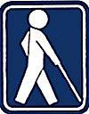 「盲人のための国際シンボルマーク」の画像