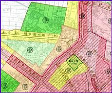 土浦市の用途地域図