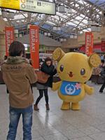 上野駅での観光PR