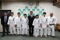 土浦市体育協会柔道部表敬訪問