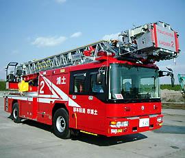 災害対応先端屈折35m級梯子車